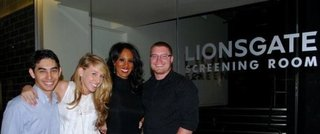 Melissa Micheals and film crew at LionsGate for premiere of their film, Fiddler In The Darkness