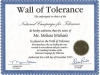 Wall of Tolerance signed by Rosa Parks