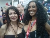 Marina Sirtis and Melissa Michaels at Comic-Con