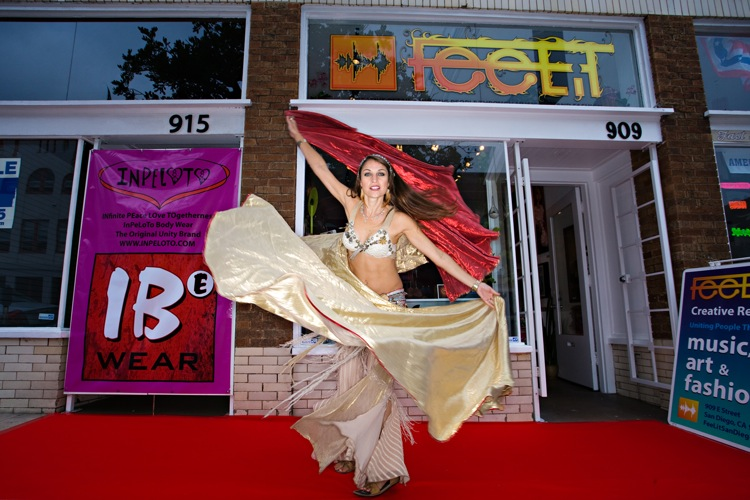 World renowned belly dancer, Leilainia dances at Inpeloto\'s launch