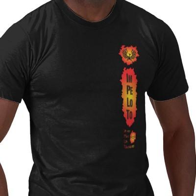 Inpeloto\'s men\'s Phoenix Rising ecofriendly tshirt