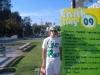 SDSU student, Riley rocking Inpeloto\'s Live Peace Peace Lives tshirt