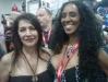 Marina Sirtis and Melissa Michaels at Comic-Con