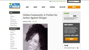 Online Community A Twitter Action For Against Hunger